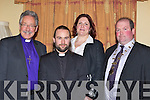 Welcoming Rev Ma?irt Hanley as the new Rector for St Mary's Church, Killorglin in the Manor Inn, Killorglin on Saturday was l-r: Bishop of Aghadoe Trevor Williams, Rev Ma?irt Hanley, Una Hanley and Paudie Cronin Killorglin Mayor