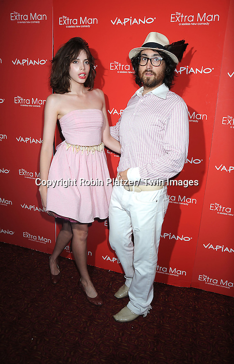 "Charlotte Kemp and Sean Lennon arriving at The New York Premiere of "" The Extra Man"" on July 19, 2010 at the Village East Cinema in New York City."