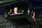 Wayne Rooney of Manchester United is displayed on the video screens during the UEFA Europa League Final match at the Friends Arena, Stockholm. Picture date: May 24th, 2017.Picture credit should read: Matt McNulty/Sportimage