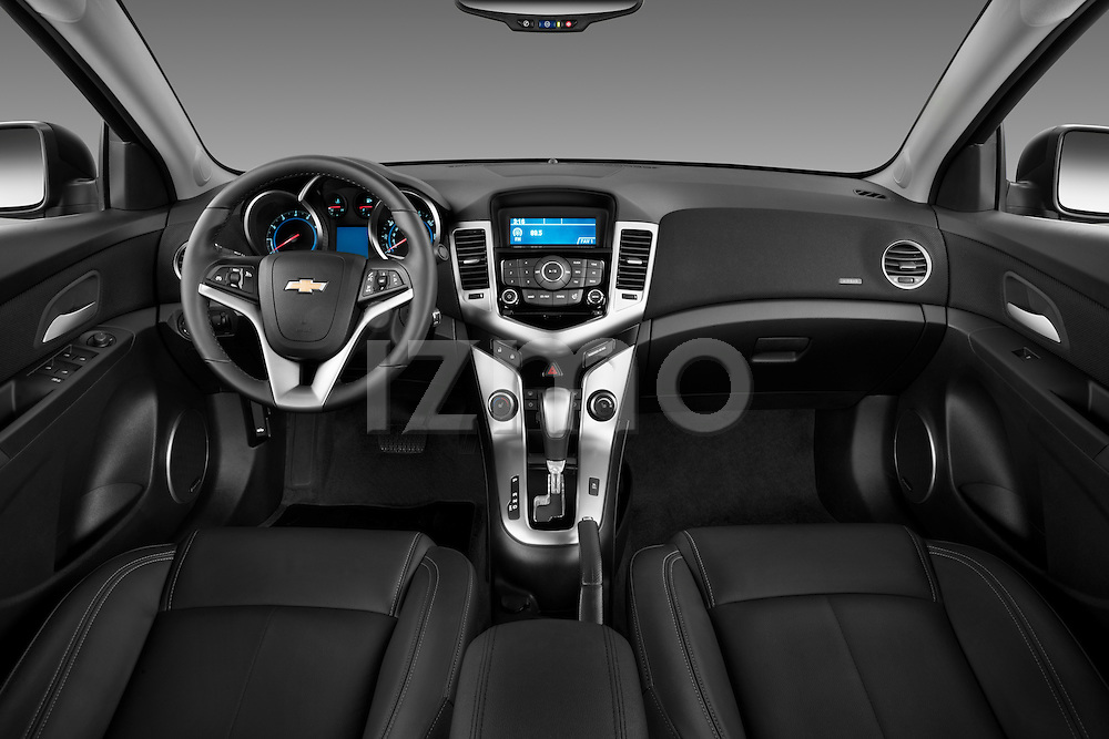 Straight dashboard view of a 2011 Chevrolet Cruze