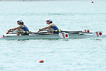 Miharu Takashima &  Hinako Takimoto (JPN), <br /> AUGUST 20, 2018 - Rowing : <br /> Women's Lightweight Double Sculls  Final <br /> at Jakabaring Sport Center Lake <br /> during the 2018 Jakarta Palembang Asian Games <br /> in Palembang, Indonesia. <br /> (Photo by Yohei Osada/AFLO SPORT)