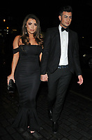 Abigail Clarke and Junaid Ahmed at the World Cancer Day Gala, Jumeirah Carlton Tower Hotel, Cadogan Place, London, England, UK, on Saturday 03 February 2018.<br /> CAP/CAN<br /> &copy;CAN/Capital Pictures