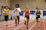 NAPERVILLE, IL - MARCH 11: Wadeline Jonathas of the University of Massachusetts-Boston, left, and Chelsea Gilles of Greenville College, right, compete for first place in the women's 400 meter dash at the Division III Men's and Women's Indoor Track and Field Championship held at the Res/Rec Center on the North Central College campus on March 11, 2017 in Naperville, Illinois. (Photo by Steve Woltmann/NCAA Photos via Getty Images)
