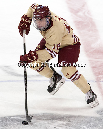 Michael Sit (BC - 18) - The Boston College Eagles defeated the University of Massachusetts Lowell River Hawks 4-3 in the NCAA Northeast Regional final on Sunday, March 30, 2014, at the DCU Center in Worcester, Massachusetts.