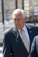 United States House Majority Leader Steny Hoyer (Democrat of Maryland) calls for better humanitarian rights for refugees at the United States border in Washington D.C. on June 12, 2019.<br /> <br /> Credit: Stefani Reynolds / CNP/AdMedia