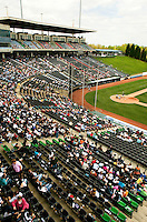 The Charlotte Knights vs. The Durham Bulls, at Knights Stadium in Forth Mill, South Carolina. The Charlotte Knights are the Triple-A affiliate of the Chicago White Sox.