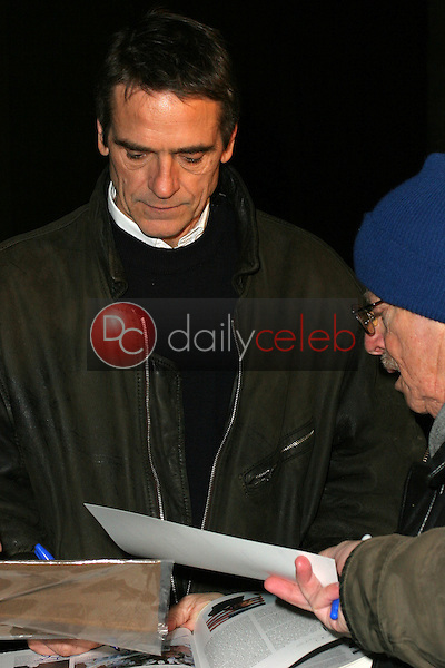 Jeremy Irons signs autographs for fans