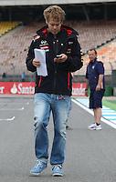 HOCKENHEIM, ALEMANHA, 19 JULHO 2012 - FORMULA 1 - GP DA ALEMANHA -   O piloto Sebastian Vettel da equipe Red Bull  e visto nesta quinta-feira no circuito de Hockenheim onde no próximo final de semana acontece a 10 etapa da F1 no GP da Alemanha. (FOTO: PIXATHLON / BRAZIL PHOTO PRESS).