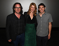 """Los Angeles - JANUARY 8: Davis Guggenheim, Laura Dern, Alex Honnold attend an IMAX screening of National Geographic's """"Free Solo"""" at the AMC Century City 15 on January 8, 2019 in Los Angeles, California. (Photo by Frank Micelotta/National Geographic/PictureGroup)"""