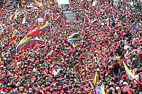 People show their pain in the streets of Caracas during the funeral of Commander Hugo Chavez, Presdient of Venezuela during the last 14 years