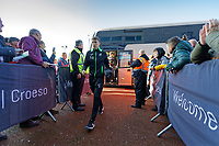 Tom Carroll of Swansea City arrives prior to the game during the Sky Bet Championship match between Swansea City and Cardiff City at the Liberty Stadium, Swansea, Wales, UK. Sunday 27 October 2019
