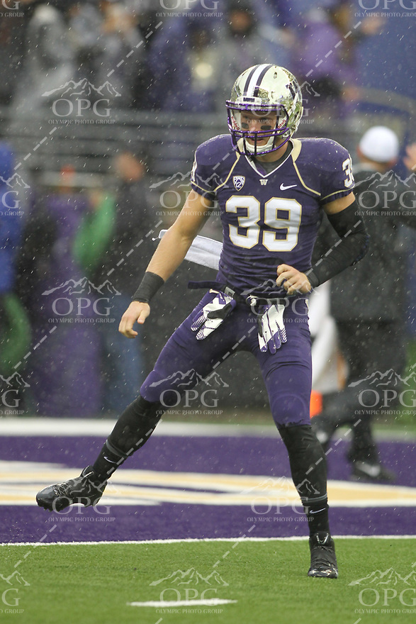 2013-09-28: Washington's Thomas Vincent against Arizona.  Washington won 31-13 over Arizona in Seattle, WA.