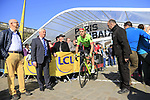PAtrick Bevin (NZL) Cannondale-Drapac at sign on for the 115th edition of the Paris-Roubaix 2017 race running 257km Compiegne to Roubaix, France. 9th April 2017.<br /> Picture: Eoin Clarke | Cyclefile<br /> <br /> <br /> All photos usage must carry mandatory copyright credit (&copy; Cyclefile | Eoin Clarke)
