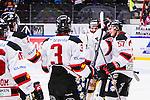 S&ouml;dert&auml;lje 2014-01-06 Ishockey Hockeyallsvenskan S&ouml;dert&auml;lje SK - Malm&ouml; Redhawks :  <br />  Malm&ouml; Redhawks jublar med Malm&ouml; Redhawks m&aring;lvakt Robin Rahm efter matchen<br /> (Foto: Kenta J&ouml;nsson) Nyckelord:  jubel gl&auml;dje lycka glad happy