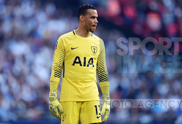 Manchester United goalkeeper Michel Vorm during the FA cup semi-final match at Wembley Stadium, London. Picture date 21st April, 2018. Picture credit should read: Robin Parker/Sportimage