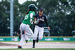 #49 Odajima Mami of Japan serving during the BFA Women's Baseball Asian Cup match between Pakistan and Japan at Sai Tso Wan Recreation Ground on September 4, 2017 in Hong Kong. Photo by Marcio Rodrigo Machado / Power Sport Images