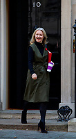 LONDON, UNITED KINGDOM - NOVEMBER 06: Liz Truss, U.K. chief secretary to the treasury at a Cabinet meeting at 10 Downing Street in central London. November 06, 2018 in London, England. <br /> CAP/GOL<br /> &copy;GOL/Capital Pictures