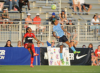 Boyds, MD - Saturday June 25, 2016: Crystal Dunn, Tasha Kai during a United States National Women's Soccer League (NWSL) match between the Washington Spirit and Sky Blue FC at Maureen Hendricks Field, Maryland SoccerPlex.