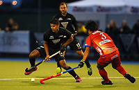 Jared Panchia during the International Hockey match between the  Blacksticks Men and Japan, TET Multisport Centre, Stratford, New Zealand. Monday 14  October 2019. Photo: Simon Watts/www.bwmedia.co.nz/HockeyNZ