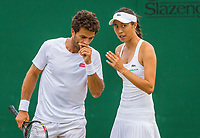 London, England, 8 th July, 2017, Tennis,  Wimbledon, Mixed doubles: Hao-Ching Chan (TPE) / Jean-Julien Rojer (NED)<br /> Photo: Henk Koster/tennisimages.com