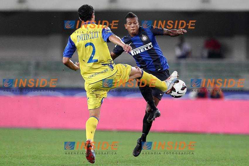 """Fredy Guarin Inter.Verona 26/09/2012 Stadio """"Bentegodi"""".Football Calcio Serie A 2012/13.Chievo v Inter.Foto Insidefoto Paolo Nucci."""