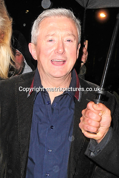 NON EXCLUSIVE PICTURE: MATRIXPICTURES.CO.UK<br /> PLEASE CREDIT ALL USES<br /> <br /> WORLD RIGHTS<br /> <br /> Irish entertainment manager and X Factor judge, Louis Walsh is pictured as he leaves Nobu Berkeley St, in London.<br /> <br /> The X Factor judges hired out the venue exclusively until 4am, after appearing on the show. It has been said that Nicole Scherzinger paid the entire bill.<br /> <br /> NOVEMBER 3rd 2013<br /> <br /> REF: ASI 137144