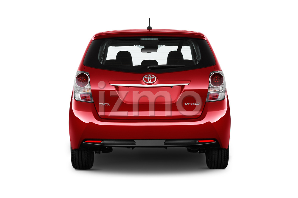 Straight rear view of 2017 Toyota Verso 50th-Anniversary+-PACK 5 Door Mini MPV Rear View  stock images
