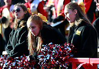 Maryland Terrapins fans look disappointed after OSU scores in the second half of their game at Maryland Stadium in College Park, MD on November 17, 2018. [ Brooke LaValley / Dispatch ]