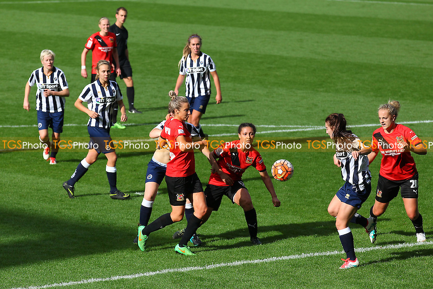 Rhema Lord-Mears of Sheffield (C) goes close to a goal during Millwall Lionesses vs Sheffield FC Ladies, FA Women's Super League FA WSL2 Football at The Den on 9th October 2016