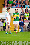 Paul Galvin is introduced into the Muster Senior Semi final held in The Gaelic Grounds last Saturday evening.