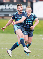 Picture by Allan McKenzie/SWpix.com - 25/03/2018 - Rugby League - Betfred Championship - Batley Bulldogs v Featherstone Rovers - Heritage Road, Batley, England - Martyn RIdyard kicks downfield.