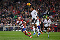 Atletico de Madrid´s Koke (L) and Valencia´s Zakaria Bakkali during 2015-16 La Liga match between Atletico de Madrid and Valencia at Vicente Calderon stadium in Madrid, Spain. October 25, 2015. (ALTERPHOTOS/Victor Blanco) /NortePhoto