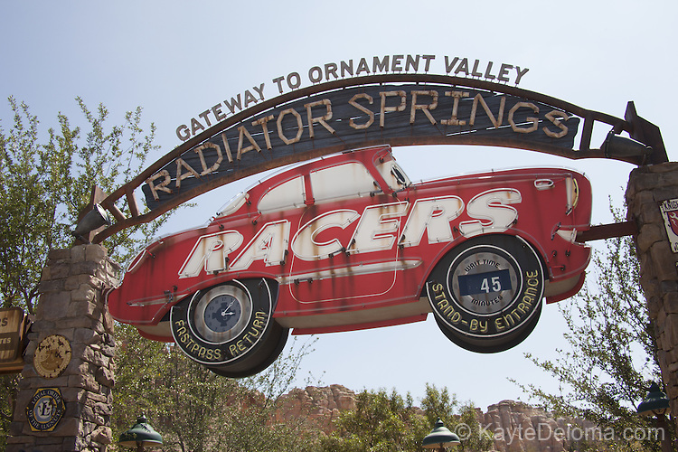 Radiator Springs Racers in Cars Land of Disney California Adventure at the Disneyland Resort in Anaheim, CA