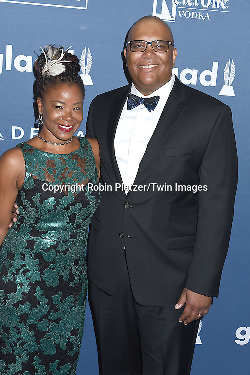 Reggie Richardson  and attends the 27th Annual GLAAD Media Awards on May 14, 2016 at the Waldorf Astoria Hotel in New York City, New York, USA.<br /> <br /> photo by Robin Platzer/Twin Images<br />  <br /> phone number 212-935-0770