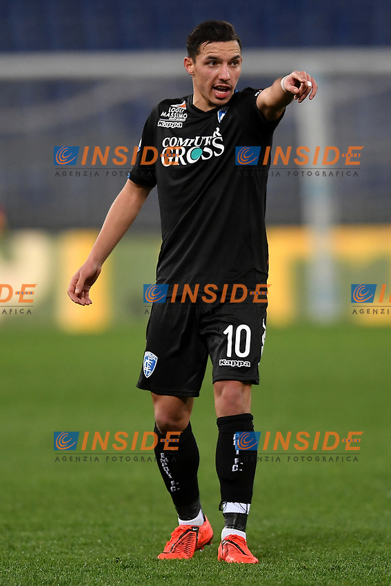 Ismael Bennacer of Empoli reacts during the Serie A 2018/2019 football match between Lazio and Empoli at stadio Olimpico, Roma, February 7, 2019 <br />  Foto Andrea Staccioli / Insidefoto