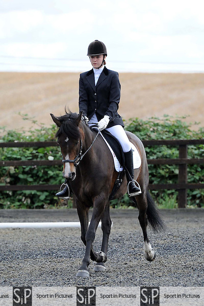 Class 1. Whitehalls farm unaffiliated dressage. Essex. 14/08/2016. MANDATORY Credit Ellen Szalai/Sportinpictures - NO UNAUTHORISED USE - 07837 394578