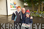 Jack, Brian and Caoimhe Shanahan from Ballyroe enjoying the Kerry Film Festival at Kerry Library on Thursday.