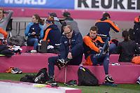 SPEEDSKATING: HAMAR: Vikingskipet, 28-02-2020, ISU World Speed Skating Championships, Jac Orie (coach Team Jumbo-Visma), Sven Kramer (NED), ©photo Martin de Jong