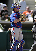 March 26, 2004:  Catcher Brian Schneider of the Montreal Expos (Washington Nationals) organization during Spring Training at Osceola County Stadium in Kissimmee, FL.  Photo copyright Mike Janes/Four Seam Images