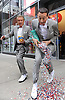 """Regis Philbin and Pee Wee Herman are pictured touring New York during the production of a segment for """"Live! with Regis and Kelly"""" on Wednesday, October 6, 2010..Photos: David M. Russell/Disney ABC"""