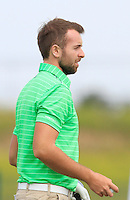 Ruaidhri McGee (IRL) on the 1st tee during Round 1 of the Challenge de Madrid, a Challenge  Tour event in El Encin Golf Club, Madrid on Wednesday 22nd April 2015.<br /> Picture:  Thos Caffrey / www.golffile.ie