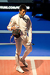 Kazuyasu Minobe (JPN),<br /> AUGUST 8, 2013 - Fencing :<br /> World Fencing Championships Budapest 2013, Men's Individual Epee Round of 32 at Syma Hall in Budapest, Hungary. (Photo by Enrico Calderoni/AFLO SPORT) [0391]