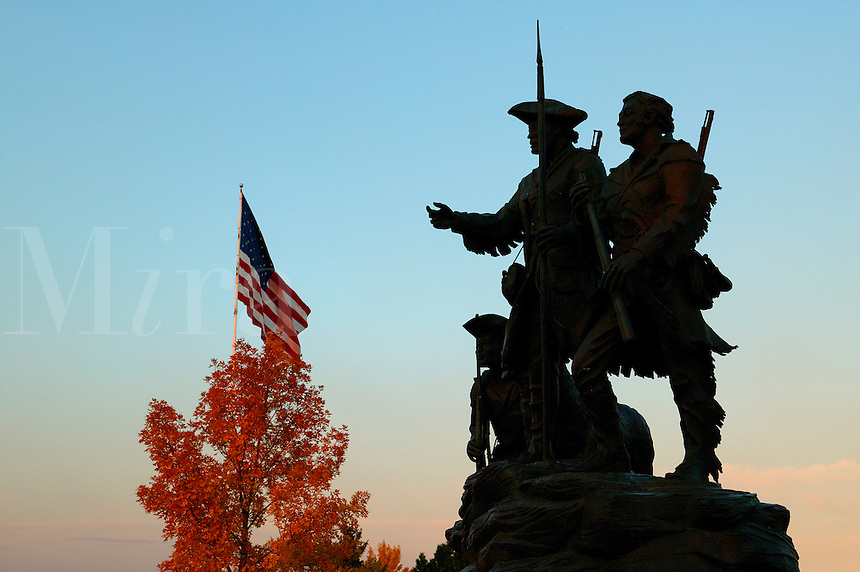 "This Lewis and Clark sculpture ""Explorers at the Portage"" by Robert M. Scrivor shows both Captains, York and Lewis's dog Seaman can be found in Great Falls, Montana."