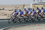 FDJ-BigMat team warms up before the 2nd Stage of the 2012 Tour of Qatar a team time trial at Lusail Circuit, Doha, Qatar, 6th February 2012 (Photo Eoin Clarke/Newsfile)