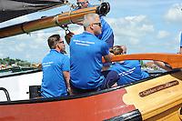 ZEILEN: GROU: Pikmar, De Tynje, Wide Ie, 30-07-2016, SKS skûtsjesilen, openingswedstrijd, Alco Reijenga (Heerenveen), ©foto Martin de Jong
