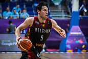 5th September 2017, Fenerbahce Arena, Istanbul, Turkey; FIBA Eurobasket Group D; Turkey versus Belgium; Point Guard Sam Van Rossom #5 of Belgium drives to the basket during the match