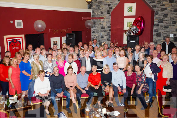 Surprise party for Mary Coffey, Castleisland celebrating her 60th birthday with family and friends at O'Donnell's bar on Friday