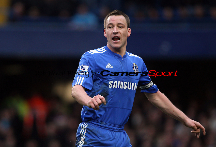 John Terry of Chelsea - Chelsea vs West Ham United, Barclays Premier League at Stamford Bridge, Chelsea - 13/03/10 - MANDATORY CREDIT: Rob Newell/TGSPHOTO - Self billing applies where appropriate - 0845 094 6026 - contact@tgsphoto.co.uk - NO UNPAID USE.