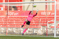 Bridgeview, IL - Sunday May 29, 2016: Sky Blue FC goalkeeper Caroline Stanley (18) during a regular season National Women's Soccer League (NWSL) match at Toyota Park.