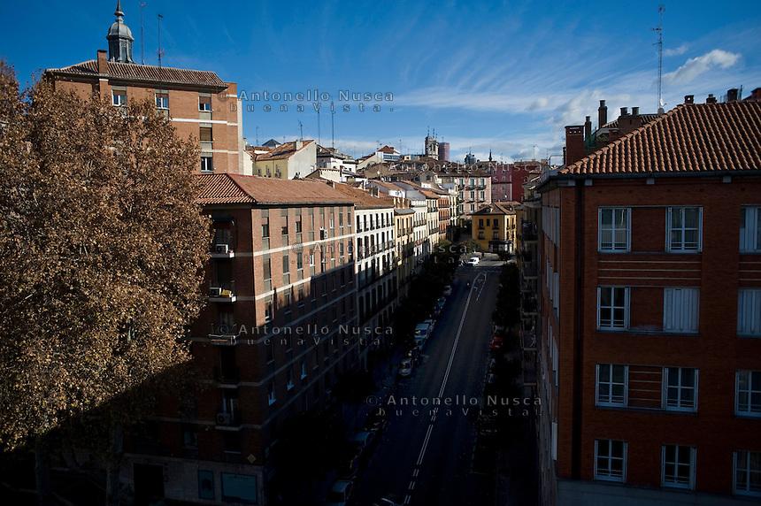 Palazzi nel centro di Madrid. Uno dei primi segnali della crisi economica che ha colpito la Spagna è stata la bolla immobiliare.
